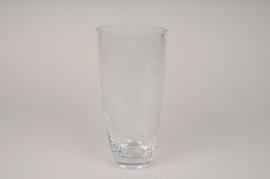 A034I0 Glass vase D11.5cm H23.5cm