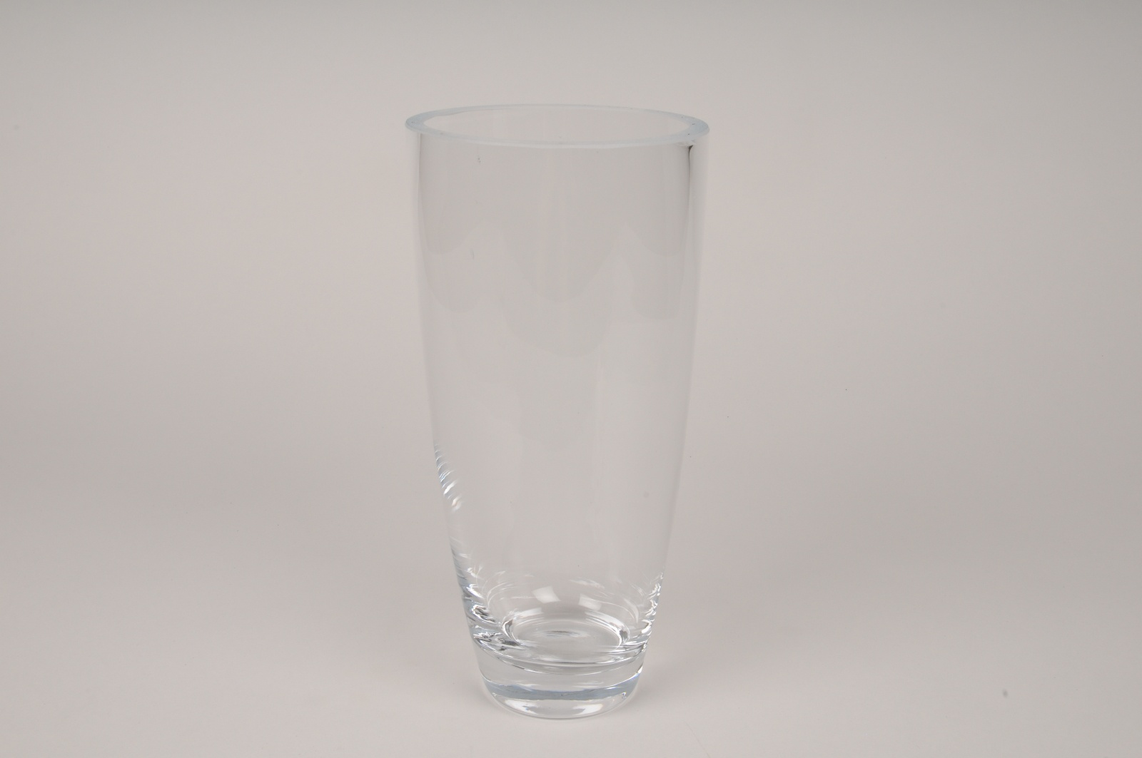 A034I0 Vase en verre obus D11.5cm H23.5cm