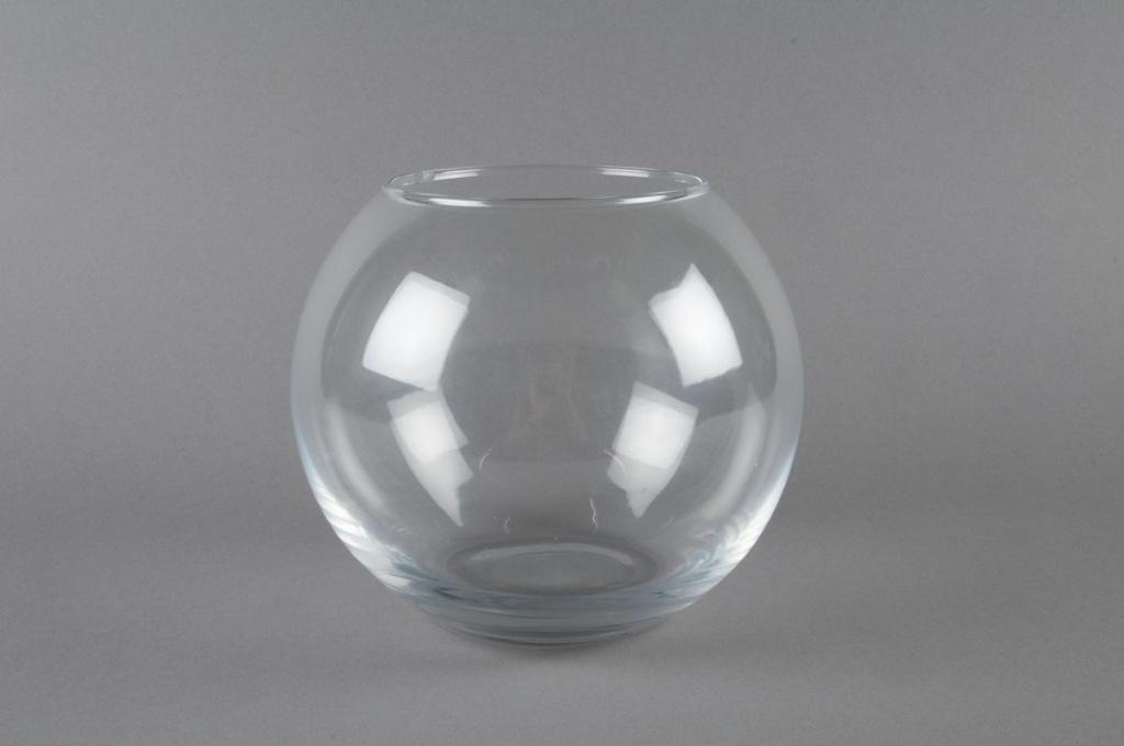 A034PQ Vase glass sphere D20 H17cm