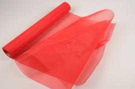 A034RB Rouleau de tulle rouge 48cm x 10m