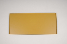 A035CC Plateau en métal moutarde 40x18cm