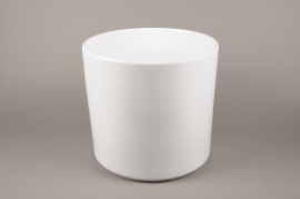 A035DO Cache-pot en céramique blanc D43cm H40cm