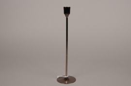 A035E6 Black metal candle holder H25cm
