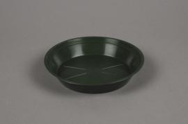 A035T7 Green plastic saucer D16cm