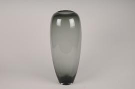 A035W3 Grey glass vase D21cm H50cm