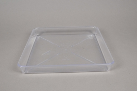 A036K7 Saucer clear plastic 25x25cm