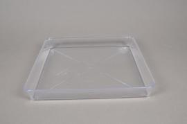 A036K7 Soucoupe en plastique transparente 25x25cm