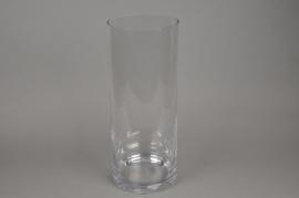 A036PQ Vase en verre cylindre D20cm H50cm