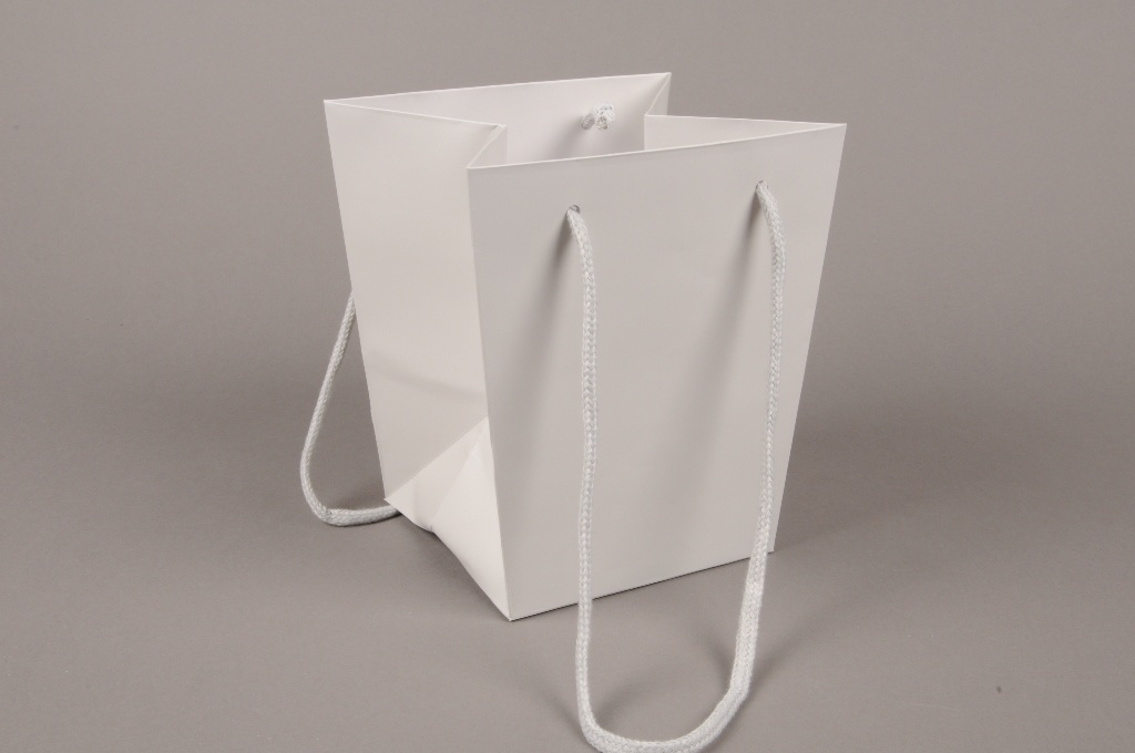 A036QX Pack of 10 holdall sand grey 16x16cm H18cm