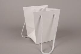 A036QX Paquet de 10 sacs trapèze gris 16x16cm H18cm