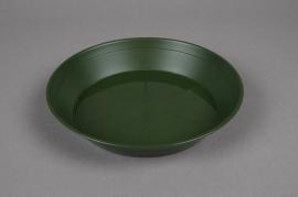 A036T7 Green plastic saucer D18cm