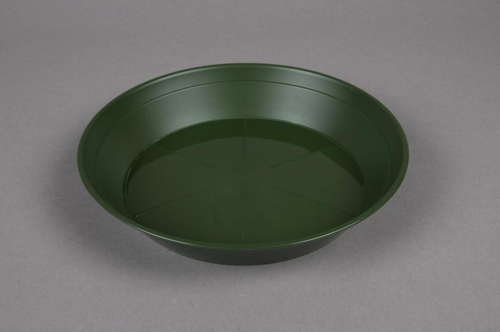 A036T7 Soucoupe en plastique verte D18cm