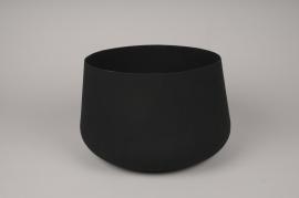 A036U9 Black brushed metal bowl D26cm H15cm