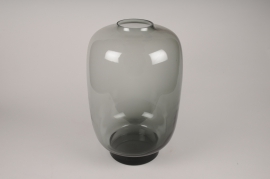 A036W3 Grey glass vase D34cm H50cm
