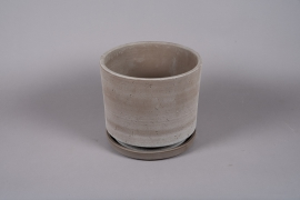 A037DO Ceramic planter with saucer D30cm H27cm