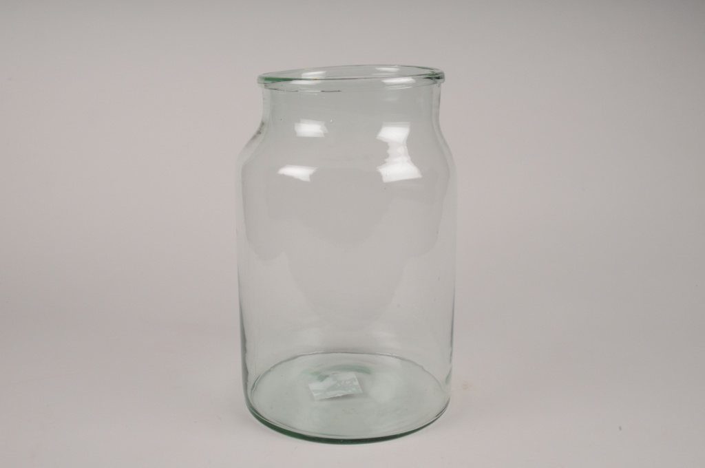 A037IH Vase bocal en verre D22cm H34cm