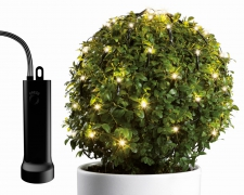 A037KI Filet câble vert 128 led blanc chaud D80cm
