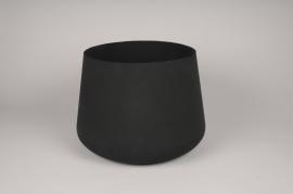 A037U9 Black brushed metal bowl D32cm H30cm