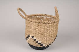 A037UV Graphic basket planter D20cm H21cm