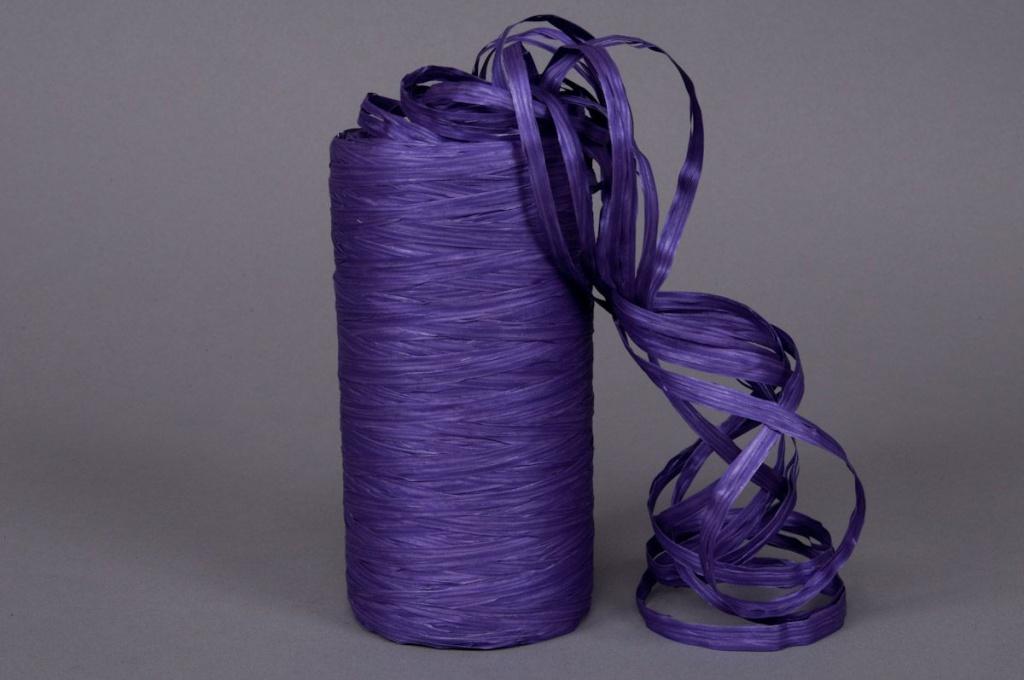 A037ZR Bobine de raphia synthétique violet 200m