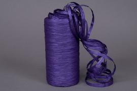 A037ZR Roll of synthetic raffia purple 200m
