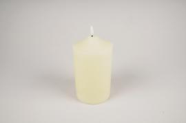 A038A1 White wax candle LED D10cm H20cm