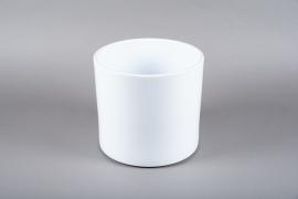 A038A8 Cache-pot en céramique blanc D28cm H25.5cm