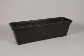 A038DB Jardinière en plastique anthracite 77x24cm H22.5cm