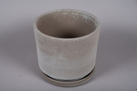 A038DO Ceramic planter with saucer D33.5cm H30cm
