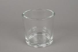 A038I0 Pot en verre épais D12cm H12cm