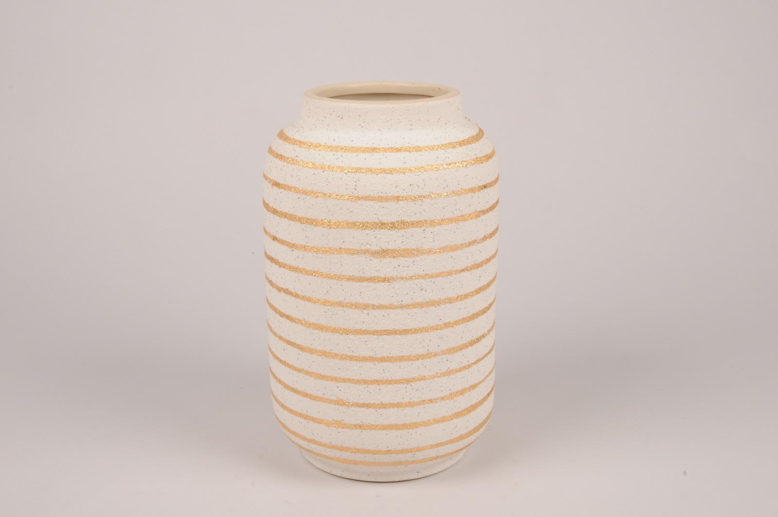 A038I4 Vase en céramique crème D18cm H32cm