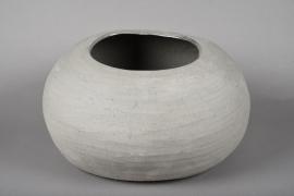 A038N8 Cache-pot en terre cuite gris 40x33cm H22cm