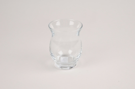 A038NH Glass candle jar D7cm H9.5cm