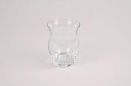 A038NH Photophore en verre D7cm H9.5cm