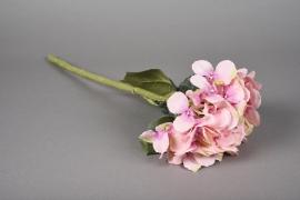 a038nn Hortensia artificiel rose H48cm