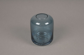A038P5 Blue glass vase D8cm H11cm