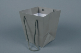 A038QX Pack of 10 holdall sand grey 16x16cm H18cm