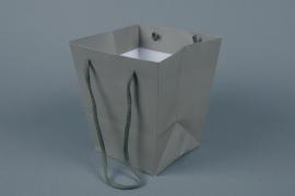 A038QX Paquet de 10 sacs trapèze taupe 16x16cm H18cm