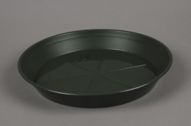 A038T7 Green plastic saucer D22cm