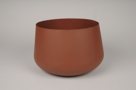 A038U9 Brown brushed metal bowl D25cm H15cm