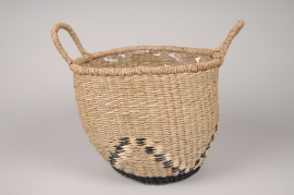A038UV Graphic basket planter D26cm H24cm