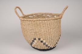A038UV Graphic basket planter D26cm H24cm