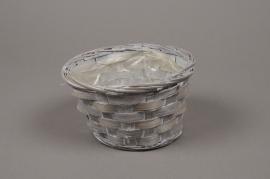 A038VX Grey bamboo bowl D15cm H9cm