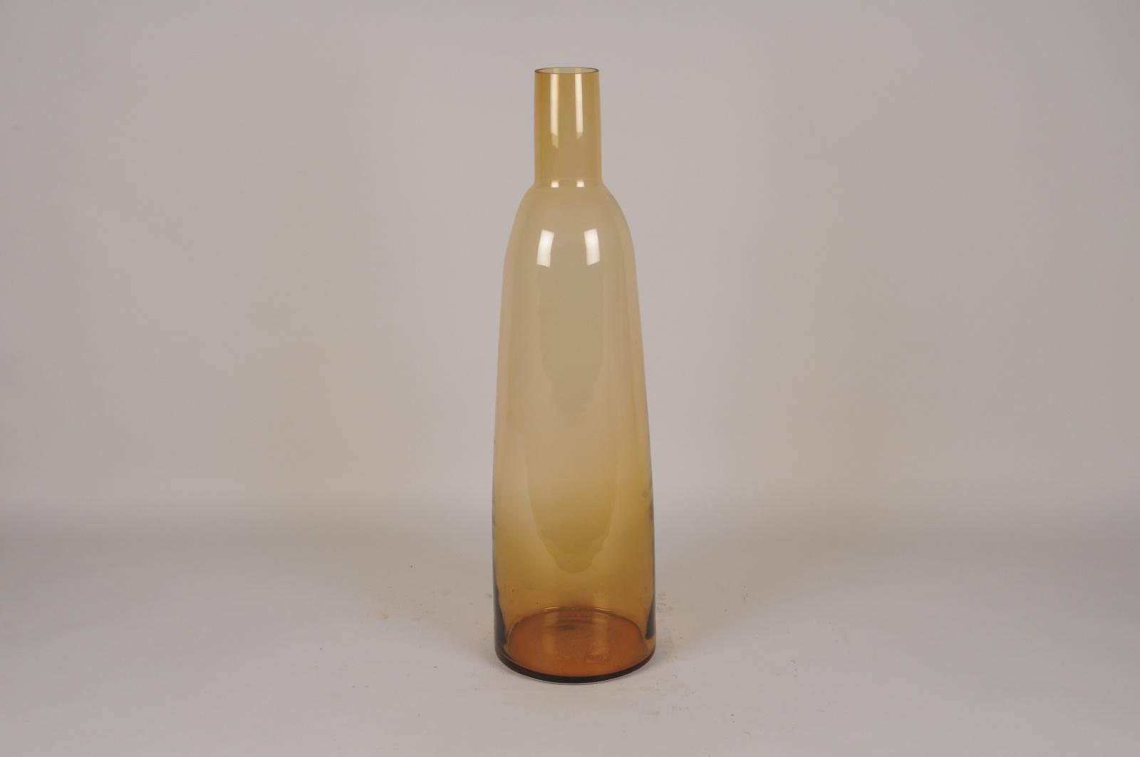 A038W3 Vase en verre ambre D21cm H77.5cm
