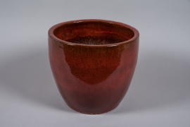 A038YD Burgundy glazed ceramic pot D40cm H34cm