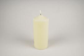 A039A1 Bougie en cire blanc LED D10cm H25.5cm