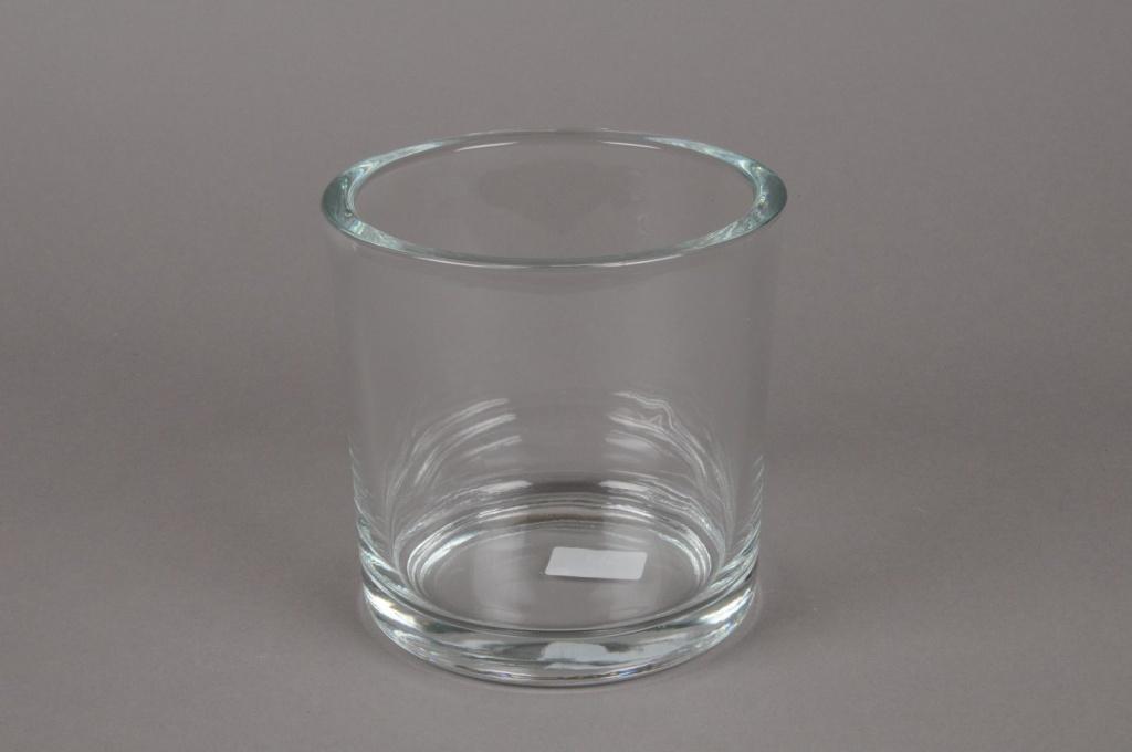 A039I0 Pot en verre épais D14 H14cm