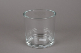 A039I0 Pot glass thick  D14 H14cm