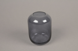 A039P5 Grey glass vase D8cm H11cm