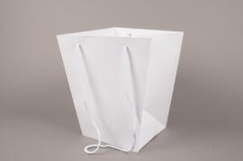 A039QX Paquet de 10 sacs trapèze blanc 25x25cm H29cm